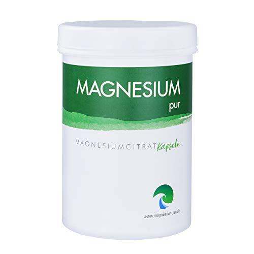 Magnesium-pur Magensiumcitrat Kapseln vegan 250 Stück Dose, hochdosiert 100mg Magnesiumcitrat pro Kapsel
