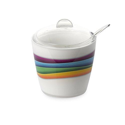 Omada Design Azucarero o azucarero, 25 cl, en plástico irrompible y lavable en lavavajillas industriales, utilizado en bares y restaurantes, con decoración INDELEBLE, línea Plexart