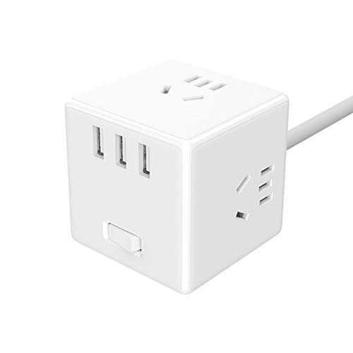 HaiYan Power Strip Würfelkonverter USB-Sockel Konverter Stecker Multifunktions-Steckplatine Elektrowürfel Ladekabine Smart
