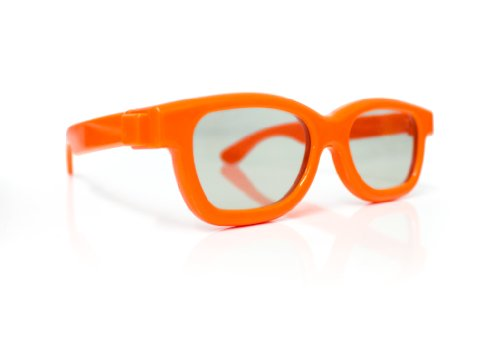 3D Kinder-Brille orange Universale Passive für Cinema 3D LG Philips Panasonic UVM. Marke PRECORN