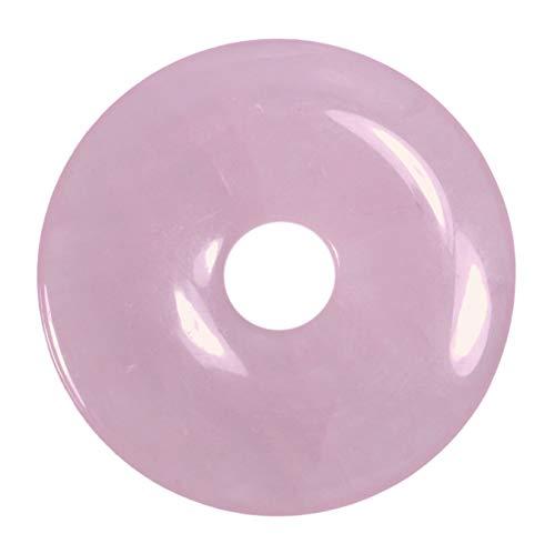 Lebensquelle Plus Rosenquarz Edelstein Donut Ø 30 mm Anhänger
