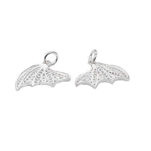 Colgante de cola de pescado de plata de ley 5, colgante de cola para collar y pulsera, colgante de cola de pescado de plata 925, encanto del océano