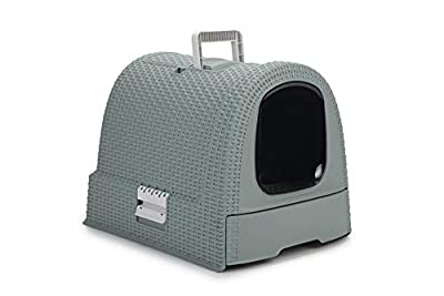 Curver 234871 Covered Cat Litter Box Tray