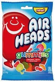 Airheads Fruit Flavored Gummies Candy, 3.8 Ounce Bag