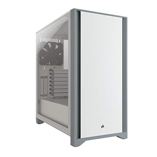 Corsair 4000D Tempered Glass Mid-Tower ATX PC Case - White