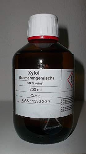 200 ml di xilolo, 98% (miscela isomerica), diluente, solvente