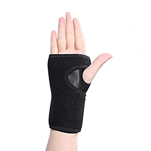 Handorthese Karpaltunnel Handstütze Wickel Linderung von Handgelenksschmerzen Frakturen Sportverletzungen Passend Rechte Linke Hand für Männer Frauen (Rechts)