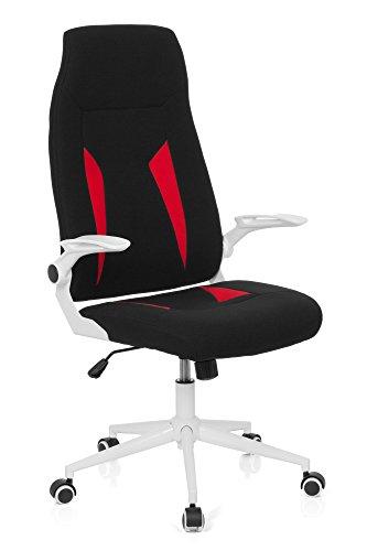 Preisvergleich Produktbild hjh OFFICE Bürostuhl Gaming PC Stuhl GLORIUS,  Chefsessel mit Armlehnen,  Drehstuhl zum Gamen und extremen Zocken,  Schreibtischstuhl,  Kunstleder,  Stoff rot 719800