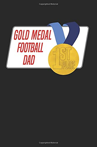 Gold Medal Football Dad: Blank Lined Journal