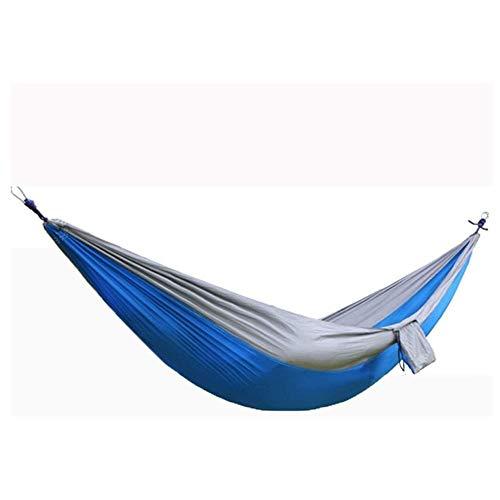 LMCLJJ Hamaca Ultraligera para Camping y Viaje de Nylon 300 KG de Capacidad de Carga Material de Paracaídas de Nylon Transpirable y de Secado Rápido Ideal para Viaje Jardín