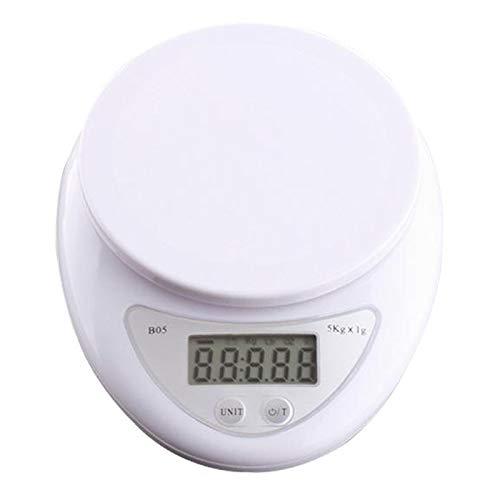 PETSOLA Plástico 3 Kg / 0,1 G Gramo Escala Digital Herramienta de Medición Cocinar Joyería de Equilibrio