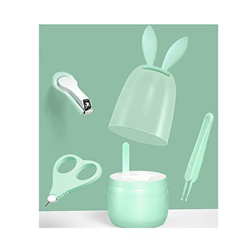 Cortaúñas Bebé de uñas, apto for los muchachos, muchachas, bebés, lima de uñas for niños y pinzas Kit, 4 en 1 clavo de bebé del sistema de herramienta del pie y cuidado Sets y kits ( Color : Green )