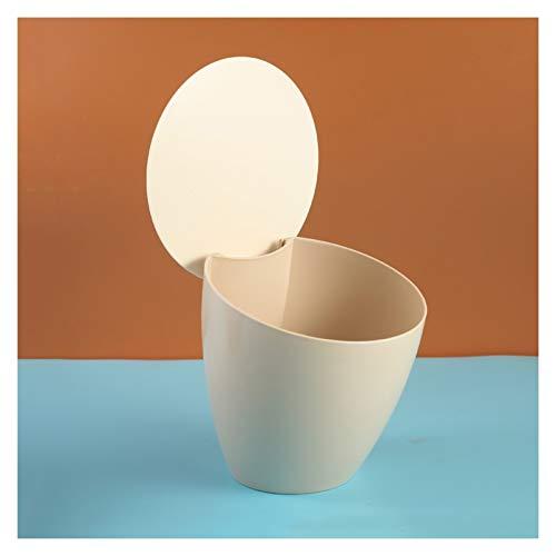 Papeleras La basura de escritorio oblicua creativa, el cubo de almacenamiento de plástico for el hogar con la tapa, la basura moderna puede cubrir la cesta de residuos cercanos for la oficina de la sa