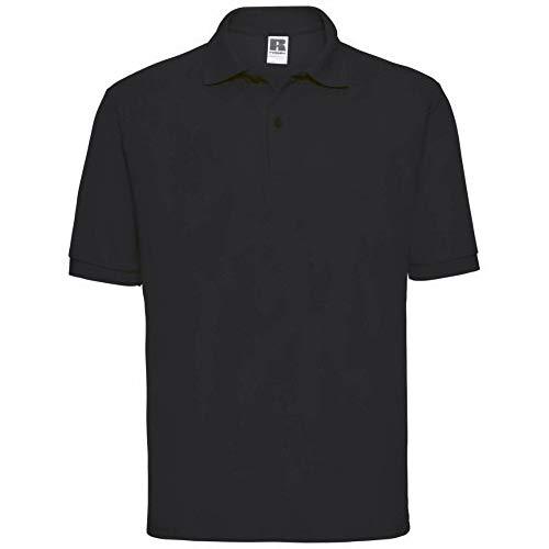 Russel Herren Klassik Kurzarm Polycotton Polo Shirt (3XL) (Schwarz)