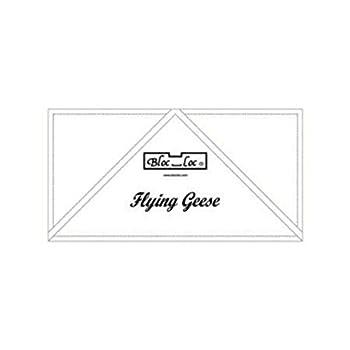 Bloc Loc~Flying Geese 3  x 6  Acrylic Ruler