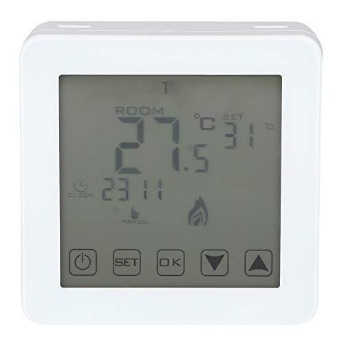 Wifehelper Termostato Digital - Pantalla LCD programable montada en la Pared Termostato de calefacción eléctrica Digital Controlador de Temperatura Ambiente