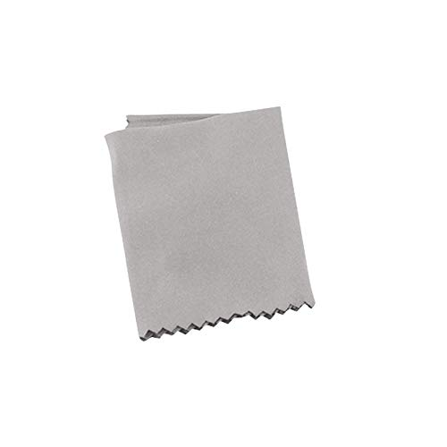 Paño de limpieza antivaho de microfibra Tuhao, utilizado para limpiar gafas, lentes de cámara, pantallas de ordenador, parabrisas y otras superficies delicadas (1 pieza, gris, 14 x 16 cm)