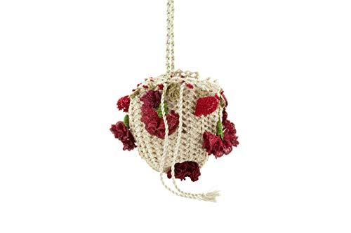 Verbena Madrid - Bolso fiesta crochet con flores