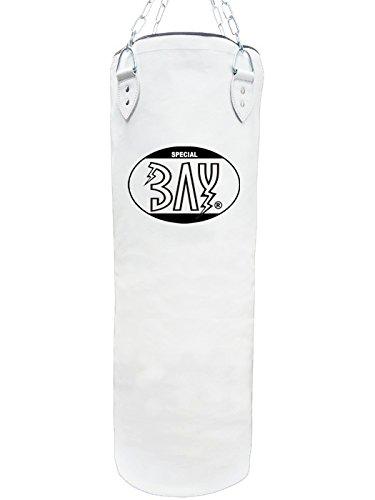 BAY® RIESEN GROSSER 130 x 40 cm Weiss Sandsack Boxsack mit Stahlkette