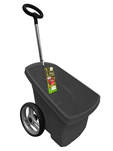 Schubkarre Karre 67 Liter Gartenkarre Transportkarre Gartentrolly Handwagen Laubkarre (schwarz)