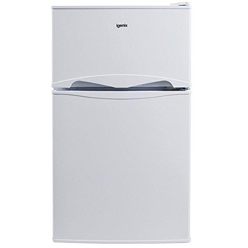 Igenix IG347FF Freestanding Under Counter Fridge Freezer with 2 Shelves and 1 Salad Drawer, Reversible Door, 47 cm Wide, White