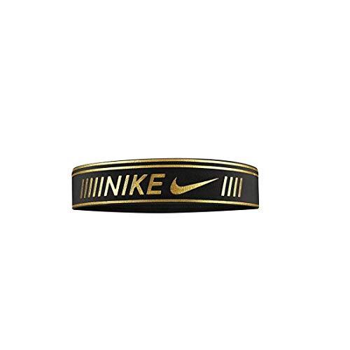 Nike Pro Metallic Headband Black/Metallic Gold One Size