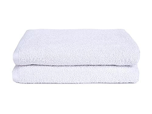 Juego de toallas y toallas de ducha, 100% algodón, color liso, 2 unidades de 100 x 150 cm, toallas de ducha)