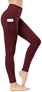 HKJIEVSHOP Women's Pockets Yoga Pants, High Waist Yoga Pants Workout 4-Way Stretch Leggings