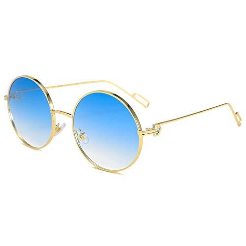ShZyywrl Gafas De Sol De Moda Unisex Gafas De Sol Ovaladas Vintage para Mujer Y Hombre, Gafas De Sol Redondas Retro Steampunk, Gafas De Sol para Mujer Y Hombre