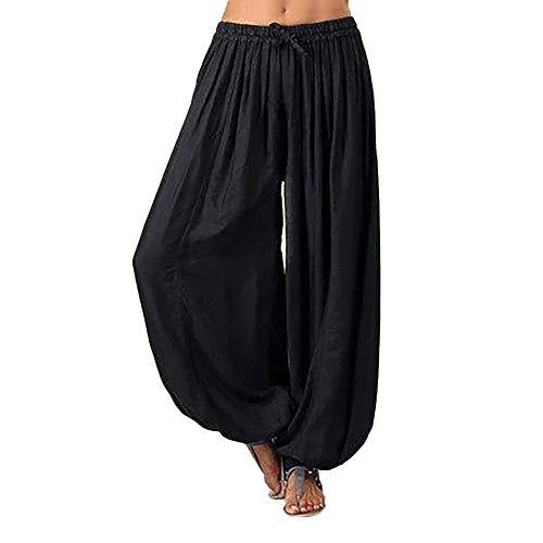 NEEKY Unisex Haremshose Damen Hosen große größen - Frauen Plus Size einfarbig beiläufige lose Pluderhosen Yoga Hosen Frauen Hosen