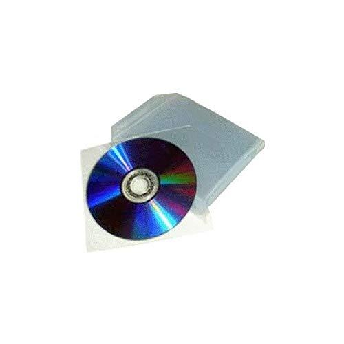 200 buste Bustine copertine custodia plastica trasparente CD/DVD con lembo aletta di chiusura