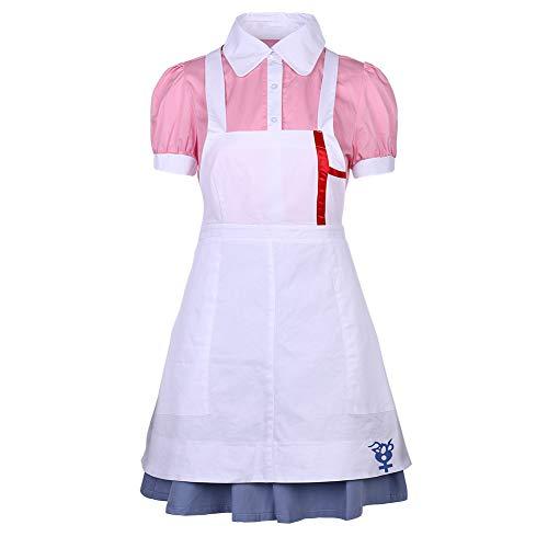 Taicanon Conjunto de tres piezas para mujer, disfraz de enfermera Super Danganronpa 2 Mikan Tsumiki Cosplay Disfraz Niñas Maid