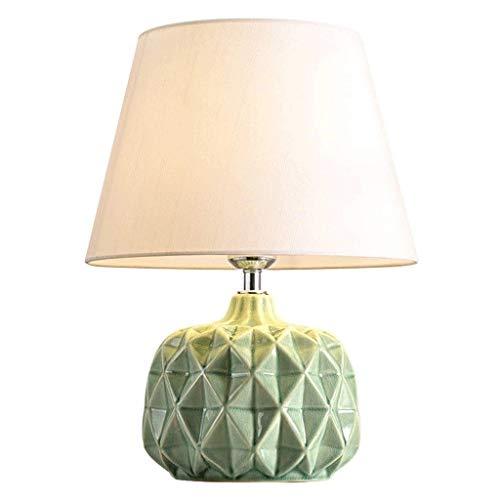 NXYJD Lámpara de sobremesa, Moderna Minimalista lámpara de Mesa de cerámica Living Estudio de decoración de Interior Caliente Mesa pequeña lámpara de la lámpara de Mesa Tela, E27 (Color : A)