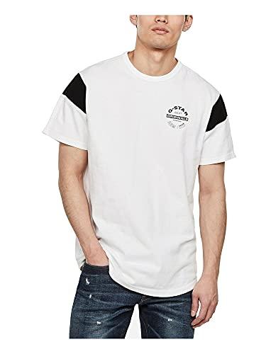 G-STAR RAW Sport Panel Originals Logo_T-Shirt Camiseta, Blanco (White 4561-110), S para Hombre