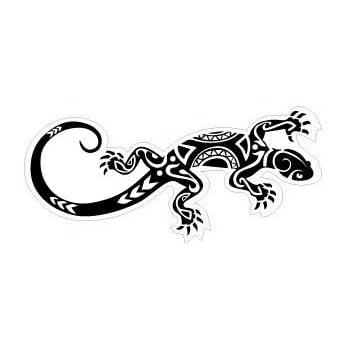 4 cm Taille Couleur Gecko salamandre 9865 autocollant adh/ésif sticker Gris