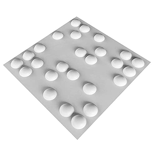 HOLSKEAT Paneles de Pared 3D 50 x 50 cm Azulejos de PVC baño Sala de Estar Vivo Paneles de Techo Decorativos Impermeables Revestimiento de ladrillo Blanco Efecto 12pcs
