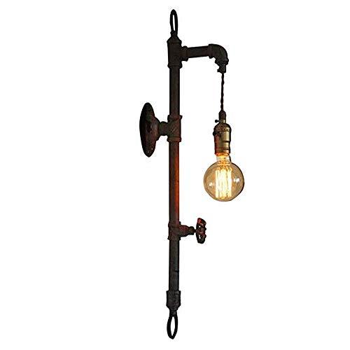 Aplique sala dormitorio led industrial moderno arr Retro industrial de tubos de acero del tubo de agua lámpara de pared lámpara de pared Válvula de montaje en pared antiguo Loft lámpara utilizar E27 z