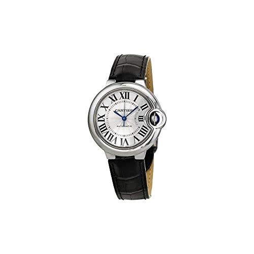 Cartier Ballon Bleu - Reloj (Reloj de pulsera, Femenino, Acero inoxidable, Acero inoxidable, Cuero, Negro)