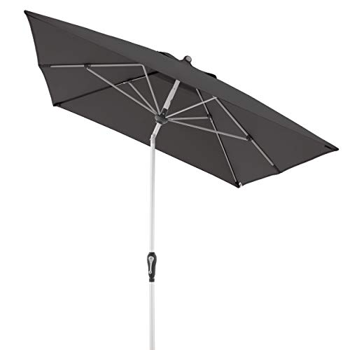 Doppler Aluminium Sonnenschirm SL-AZ 190x290 - Rechteckiger Sonnenschutz für Balkon/Terrasse - Knickbar - 190x290 cm - Anthrazit