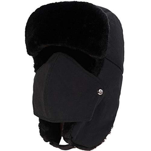 XCLWL Balaclava Earflap Bomber mutsen wol mannen vrouwen winter sneeuw Ski hoed winddicht beschermend gezicht oor hoed