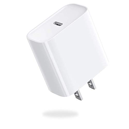 PD Fast Charger for 11/11 Pro/11 Pro Max/X/XS/XS Max/XR/8/8 Plus/7/7 Plus/6s/6s Plus/5/SE iPad Air/Mini/iPod,18W USB Wall Charger Block Plug Power Adapter with 18W USB C Type-C-00237