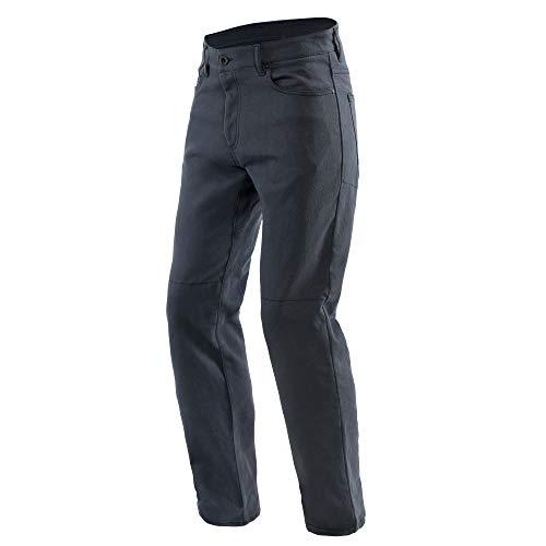 Dainese Pantalones de motorista clásicos, regulares, color azul oscuro, 28