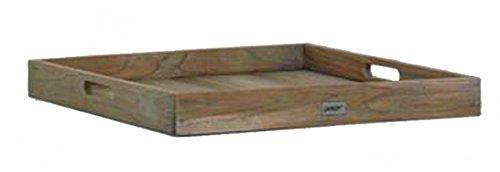 BEST 52392067 Teak-Serviertablett Moretti 60 x 60 cm, grau wash