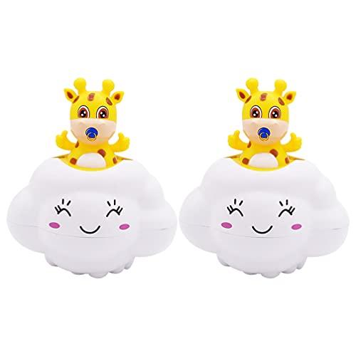 TOYANDONA 2 Piezas de Juguete de Baño Flotante para Bebé Juguetes de Baño para Ducha Regaderas de Baño Bañera Piscina Nube Juguetes de Aspersión