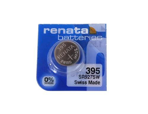 Single De Renata Reloj Batería Suizo Hizo Renata 395 O SR927SW O AG7 1.5V Rápida Nave (1 X 395 Or SR927SW)
