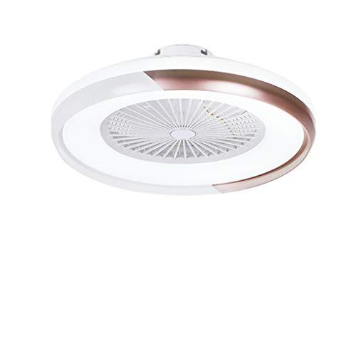 LBWHT Lámpara Ventilador Estudio Sala de Estar nórdica Moderna Minimalista de Color Correspondiente Ventilador de Techo Dormitorio de la lámpara con la lámpara Ventilador de Techo Blanco + mar
