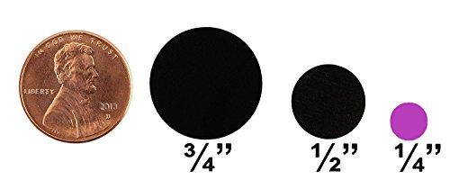ChromaLabel 1/4 Inch Round Permanent Color-Code Dot Stickers, 1000 per Dispenser Box, Fluorescent Purple Photo #2