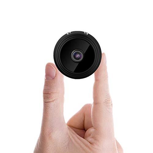 Mini Telecamera Spia Nascosta,Sansnail Full HD 1080P Portatile Micro Spy Cam Sorveglianza con Visione Notturna,Sensore di Movimento,Vista Remota (Rotonda)