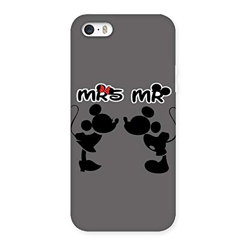WishKart Mr and Mrs Back case Cover Compatible for iphone5/5s
