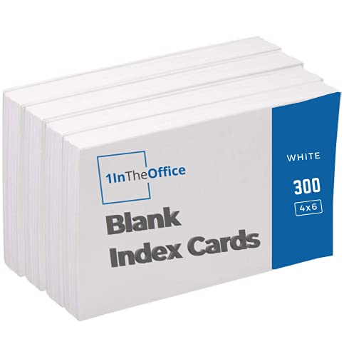 1InTheOffice Blank Index Cards White, 3x5 Index Card 500/Pack